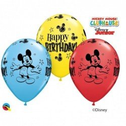 11 pulg. (27,9cm) Rnd Special Ast 25Ct Dn Mickey Mouse Bday (BP)