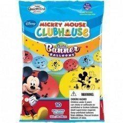 Globos latex cadeneta Quick Link Mickey surtidos de 30 cm (10 ud)
