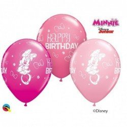 11 pulg. (27,9cm) Rnd Special Ast 25Ct Dn Minnie Mouse Bday (BP)