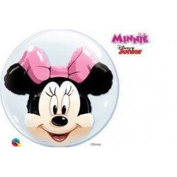 Globo Bubble Doble Minnie Mouse de 61cm aprox.QL-27568 Qualatex