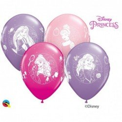 Globos látex de Princesas Disney classic de 30 cm (6ud)