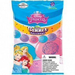 Party Banner Blns 10Ct Dn Princess (BP)