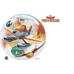 22 pulg. (55,8cm) Single Bubble 01Ct Dn Planes Fire & Rescue (BP)QL-18523 Qualatex