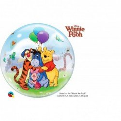 22 pulg. (55,8cm) Single Bubble 01Ct Winnie The Pooh & Friends (BP)QL-33086 Qualatex