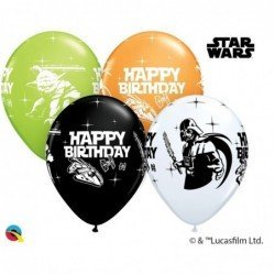 11 pulg. (27,9cm) Rnd Special Ast 25Ct Star Wars Bday Ast (BP)