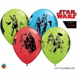 Globos látex de Star wars classic The last Jedi (6ud)