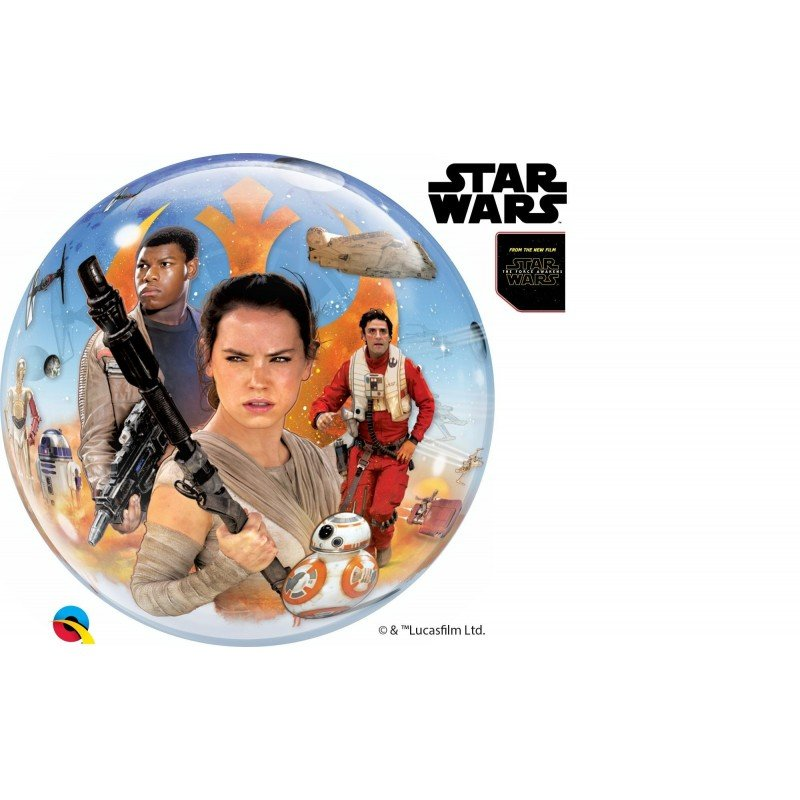 22 pulg. (55,8cm) Single Bubble 01Ct Star Wars: The Force Awakens (BP)QL-21317 Qualatex