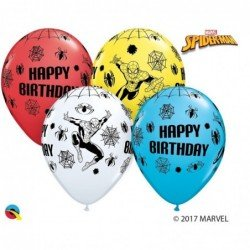 11 pulg. (27,9cm) Rnd Special Ast 25Ct Marvel'S Spider-Man Bday (BP)