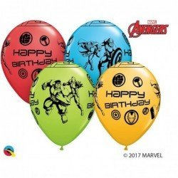 11 pulg. (27,9cm) Rnd Special Ast 25Ct Marvel'S Avengers Bday (BP)