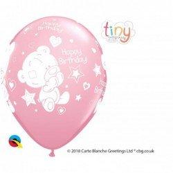 11 pulg. (27,9cm) Rnd Pink 25Ct Tiny Tatty Bday (BP)