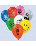 Distribución y venta al por mayor de globos impresos y globos publicitarios