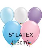 """LATEX LISOS DE 5"""" (13CM) QUALATEX"""