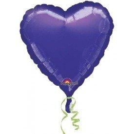 Globo Con Forma de Corazón de Aprox 45cm Color MORADO -