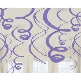 Decoracion Colgantes Espirales de Color Morado (12 de 55,8 cm)