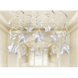 Decoracion Colgantes Espirales Estrella Color Plata (30)
