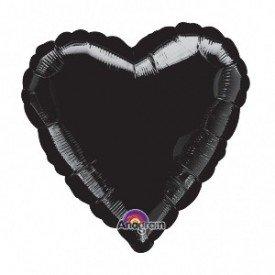 Globo Con Forma de Corazón de Aprox 45cm Color NEGRO