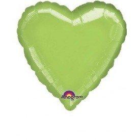 Globo Con Forma de Corazón de Aprox 45cm Color KIWI -
