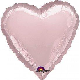 Globo Con Forma de Corazón de Aprox 45cm Color ROSA PASTEL