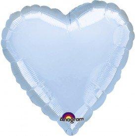 Globo Con Forma de Corazón de Aprox 45cm Color AZUL PASTEL