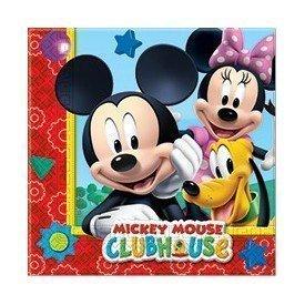 Servilletas (20) 33x33cm Club Disney Mickey