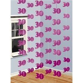 Decoracion Colgantes 30 Feliz Cumpleaños Rosa