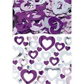 Confeti Figuras Corazon Rosa/Fucsia