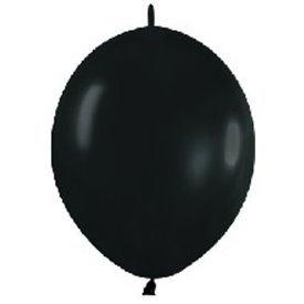 Globos (LOLR5) de 15 cm aprx Esp. Arcos y Torres Color Negro Solido (50 ud)