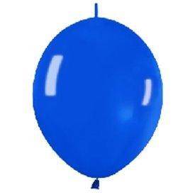 Globos (LOLR12) de 30cm aprx Esp. Arcos y TorresColor Azul Efecto Metalico-Cristal (25 ud)