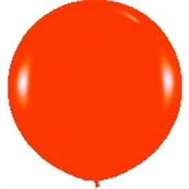 Globos (R-36)  de 90 cm aprox Color Naranja Solido (10 ud)