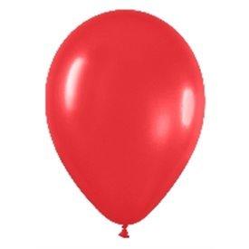 Globos (R-5) de 13 cm aprox Color Rojo Solido (100 ud)