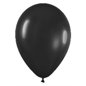 Globos (R-5) de 13 cm aprox Color Negro Solido (100 ud)
