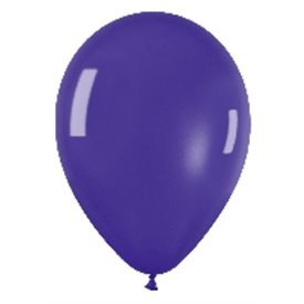 Globos (R-5) de 13 cm aprox Color Violeta Efecto Metalico-Cristal (100 ud)