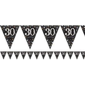 Banderin triangulos 30 Prismatic Plata/oro 4 metros