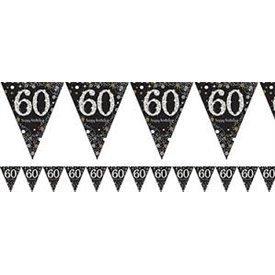 Banderin triangulos 60 Prismatic Plata/oro 4 metros