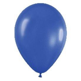 Globos de 13 cm aprox Color Azul Efecto Metalico-Cristal (100 ud)