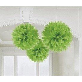 Fluffy PomPom Colgante Color Verde (3 de 40,6 cm)