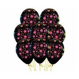 Globos Serigrafiado Estrellas De 30 cm aprox Color Negro /10 ud/