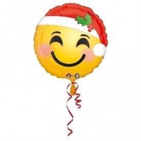 Globo Emoji Santa Claus de foil de 45cm