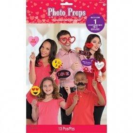 Accesorios Photocall palito San Valentin (13 pza)
