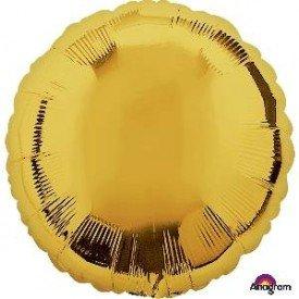 Globo Con Forma de Circulo de Aprox 45cm Color ORO -
