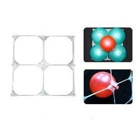 "Rejilla blanca para globos de 9"" con 4 huecos - 30cm X 30cm"