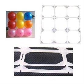 "Rejilla blanca para globos de 5"" con 9 huecos - 30cm X 30cm"