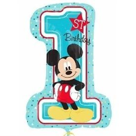 Globo Mickey Número 1 de 96 cm
