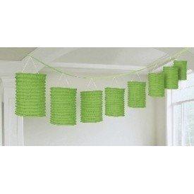 Guirnalda Farolillos Color Verde ( Farolillos de 10x14 cm de 3,6 M)