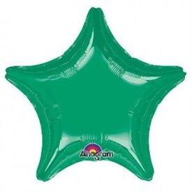 Globo Estrella color Verde de Aprox 80cm