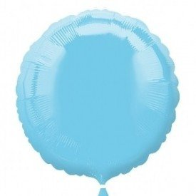 Globo Con Forma de Circulo de Aprox 45cm Color AZUL PERLA IRIS-