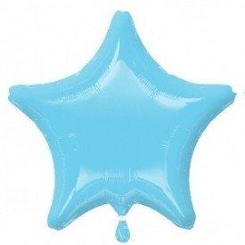 Globo Con Forma de Estrella de Aprox 47cm Color AZUL PERLA IRIS