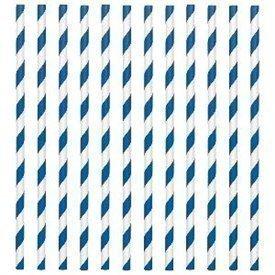 Pajitas con rayas Azul Fuerte (24)