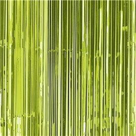 Decoracion Cortina Verde Kiwi