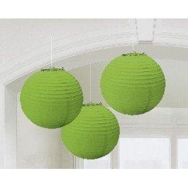 Linternas Colgantes Color Verde (3 de 20,4 cm)